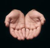 Ofrecimiento de las manos Fotografía de archivo libre de regalías