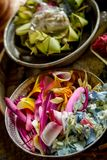 Ofrecimiento del Balinese Imagenes de archivo