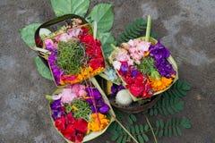 Ofrecimiento diario de hindú, Bali 1 Fotos de archivo