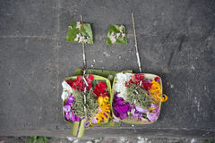 Ofrendas del Balinese para dios Foto de archivo libre de regalías