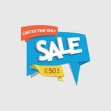 Ofrezca la etiqueta del descuento de la venta con el texto que lee el vec del tiempo limitado solamente Foto de archivo