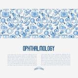Oftalmologibegrepp med visionomsorg vektor illustrationer