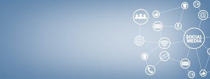 Ogólnospołeczny medialny pojęcie Biznes, technologia, komunikacja obrazy stock