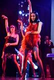 Ogólna atmosfera i tancerze na scenie podczas Dużego Jabłczanego muzyk nagród 2016 koncerta Zdjęcia Royalty Free