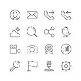 Ogólna strona internetowa i Mobilne ikony - Wektorowa ilustracja, Kreskowe ikony ustawiać Obraz Royalty Free