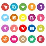 Ogólne skoroszytowe płaskie ikony na białym tle Obraz Stock