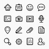 Ogólne strony internetowej linii ikony na białym tle - Wektorowa ilustracja Zdjęcia Stock