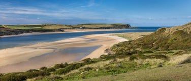 Ogólni piaski, Wielbłądzi ujście, Cornwall obraz stock