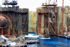 Ogólnoludzka morska bitwa Zdjęcia Royalty Free