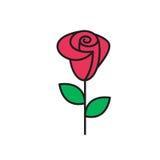 Ogólnoludzka Roser ikona używać w sieci i wiszącej ozdobie Fotografia Royalty Free