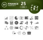 Ogólnoludzki biznesu I finanse ikony set royalty ilustracja