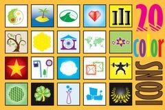 Ogólnoludzki kolor ikony set  Obraz Stock