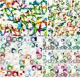 Ogólnoludzki ogromny mega set abstrakcjonistyczni tła royalty ilustracja
