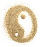 Ogólnoludzki symbolu yin Yang rzeźbił Zdjęcie Stock