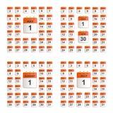 Ogólnoludzki ustawiający ścienny kalendarz Fotografia Royalty Free