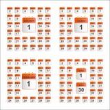 Ogólnoludzki ustawiający ścienny kalendarz od Stycznia Kwiecień Fotografia Stock