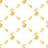 Ogólnoludzki wektorowy bezszwowy wzorów taflować finanse Obraz Stock