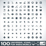 100 Ogólnoludzkich ikon Dla sieci i wiszącej ozdoby pojemności 4 Fotografia Royalty Free