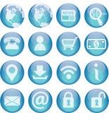 Ogólnoludzkie Tecnology ikony Zdjęcia Stock