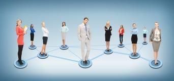 Ogólnospołeczna lub biznesowa sieć obrazy stock