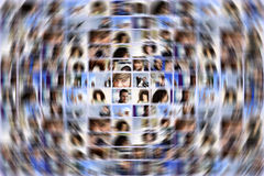Ogólnospołeczna medialna ekspansja Obrazy Stock