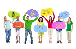 Ogólnospołeczna Medialna Globalnych komunikacj grupa Obraz Stock