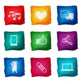Ogólnospołeczna medialna ikony akwarela Zdjęcie Royalty Free