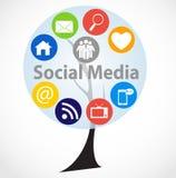 Ogólnospołeczna medialna pojęcie wektoru ilustracja Obrazy Royalty Free