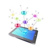 ogólnospołeczna networking pastylka ilustracji