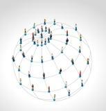 Ogólnospołeczna sieć. Zdjęcia Stock