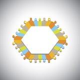 Ogólnospołeczna sieć, społeczność, kierownictwa spotyka - pojęcie wektor royalty ilustracja