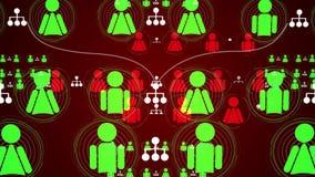 Ogólnospołeczna sieć związku animacja 4K ilustracji