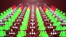Ogólnospołeczna sieć związku animacja 4K royalty ilustracja