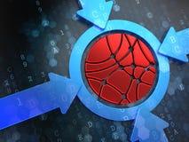 Ogólnospołeczna sieci ikona na Cyfrowego tle. Fotografia Stock
