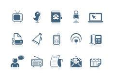 ogólnospołeczne komunikacyjne ikony ilustracja wektor