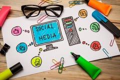 Ogólnospołeczne medialne ikony Obrazy Royalty Free