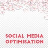 Ogólnospołeczne medialne ikony Ogólnospołeczny medialny optimisation pojęcie Spada menchie jak kontuar Majestatyczny abstrakt Royalty Ilustracja