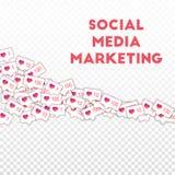 Ogólnospołeczne medialne ikony pojęcie socjalny marketingowy medialny Spada gradient jak kontuar Kwadratowy kształta elem Royalty Ilustracja