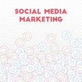 Ogólnospołeczne medialne ikony pojęcie socjalny marketingowy medialny Spada rozrzuceni aprobat serca Rozprasza bott Royalty Ilustracja