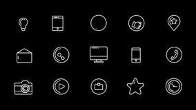Ogólnospołeczne Medialne ikony Ustawiać Z Alfa kanałem royalty ilustracja