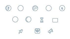 Ogólnospołeczne Medialne ikony Ustawiać Z Alfa kanałem ilustracji
