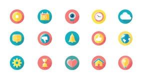 Ogólnospołeczne Medialne ikony Ustawiać Z Alfa kanałem ilustracja wektor