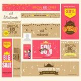 Ogólnospołeczne medialne reklamy, chodnikowiec lub sztandar dla Eid festiwalu świętowania, Obrazy Stock