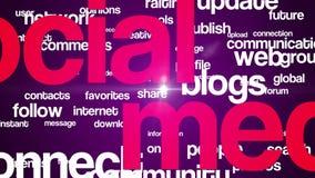Ogólnospołeczne medialne tło teksta 4K purpury ilustracji