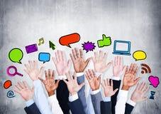 Ogólnospołeczne networking ikony Zdjęcia Royalty Free