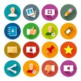Ogólnospołeczne sieci ikony – Fllate serie Zdjęcia Royalty Free