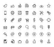 Ogólnospołeczne sieci ikony Obrazy Stock