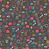Ogólnospołecznej sieci bezszwowy pettern SEO internet ilustracji