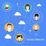 Ogólnospołecznej sieci ikon medialny pojęcie z ludźmi Zdjęcie Stock