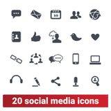 Ogólnospołeczni środki I ludzie Komunikacyjnych ikon Ustawiać ilustracja wektor